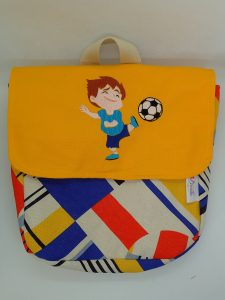 Sac maternelle Footballeur brodé